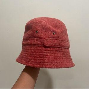 Jcrew Pink Lambs Wool Felted Bucket Hat
